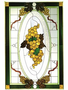 """Grapevine Golden Victorian Vertical Art Glass Panel Wall Hanging Suncatcher 30 x 20 by eEarthExchange. $130.00. **  ** SHIPS UPS - Order BY DECEMBER 13 for CHRISTMAS DELIVERY **  **. Ships within 5 business days. 20.5""""w x 30.5""""h. Painted Tempered Glass MADE IN THE USA!!. Includes chain for immediate placement. Like no other product, art glass delivers high visual impact! The rich, vibrant look of stained glass enhances every decor - whether a room is casual or..."""