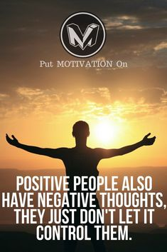 Control your negative thoughts