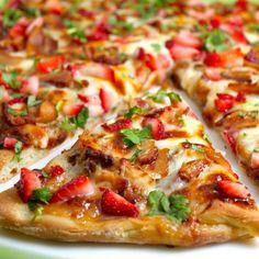 Strawberry Pizza, Strawberry Balsamic, Strawberry Recipes, Strawberry Glaze, Strawberry Preserves, Best Italian Recipes, Favorite Recipes, Smoked Bacon, Healthy Recipes