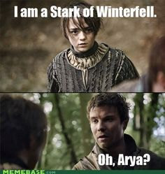 GoT's humor...that got a significant chuckle!