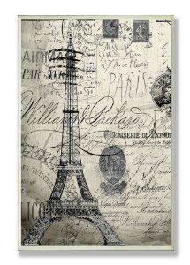 Amazon.com: Stupell Home Decor Collection Paris Typography Wall Plaque: Home & Kitchen