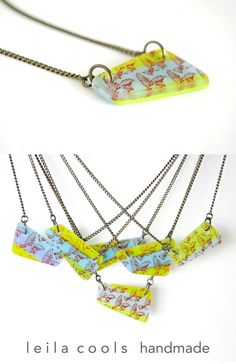 Fun and unique one-of-a-kind necklaces made with individually handmade kiln-fired glass pieces with chain and metal components. Bird Necklace, Glass Necklace, Arrow Necklace, Pendant Necklace, Bird Jewelry, Jewelry Art, Jewellery, Flying Birds Images, Handmade Jewelry