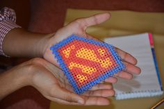 Superman by Simbrix! creativity is intelligence having fun with beads! Make Design, Bead Art, Superman, Connect, Have Fun, Creativity, Passion, Beads, Beading