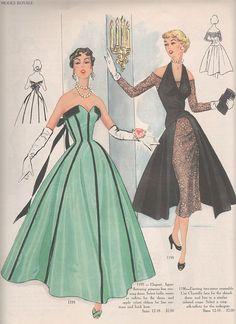 50s evening wear