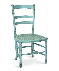Swedish Cane Side Chair - Robins Egg Blue