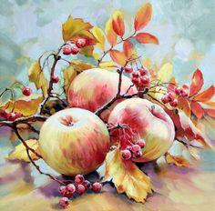 Watercolor Fruit, Fruit Painting, Watercolor Flowers, Watercolor Painting Techniques, Watercolour Painting, Painting Art, Pictures To Paint, Art Pictures, Papier Paint
