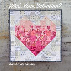 = free pattern = Mini Valentine's Quilt at Pink Door Fabrics