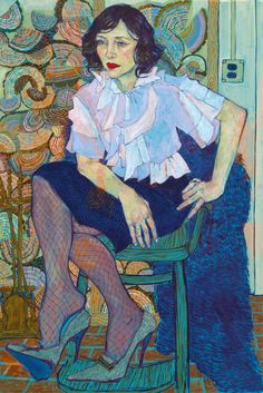 Hope Gangloff, Vera, 2013. acrylic on canvas, 81 × 54 inches