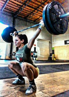 Overhead Squat - Hitting the bottom of that overhead squat with arms locked out and chest upright! #crossfit