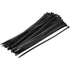 NOB Steren 8 Inch Cable Ties - Cable Tie - Black - 100 Pack - 18 lb Loop Tensile
