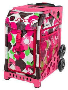 Zuca Sport Bag - BLOSSOM with Pink Frame    https://figureskatingstore.com/zuca-bags/ #figureskating #figureskatingstore #figureskates #skating #skater #figureskater #zucabag #zuca #zucabags #zuca #backpack #zucabackpack #iceskatebag #skatebags #ice #skatingbag #zucastore #zucabackpacks #zucaskatebag
