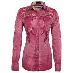 Roar Women's Long Sleeve Bird of Paradise Western Shirt