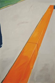 Koen van den Broek (Belgian, b. 1973), Orange Border, 2001. Oil and tape on canvas, 180.4 x 120.4 cm.