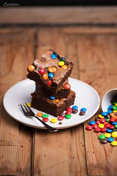 schoko brownies m&ms