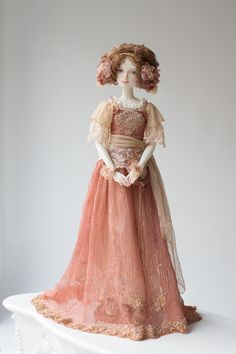 "art porcelain doll by Oksana Saharova. Adele. porcelain, 65cm collection ""Muses by Alphonse Mucha"""