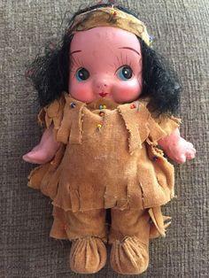 Vintage Kewpie Style Bisque Painted Doll Made in Japan American Indian | eBay
