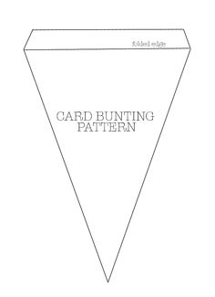 COUTURE CRAFT: CARD BUNTING PATTERN - learn how to make on my blog www.couturecraft.blogspot.com