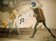 Salvador Dalí: Modern Rhapsody, 1957. Oil on canvas, 84 x 114 cm. Collection J. Shaflan, London.