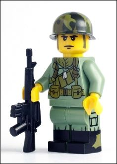 U.S. Army Lego Soldier- too cute!! i want to play with my legos now...