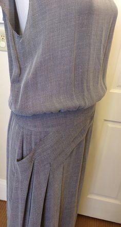 1stdibs.com   Chanel Light Grey Long Dress