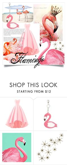 """Flamingo"" by mah14styles ❤ liked on Polyvore featuring Fantasia and Global Views"