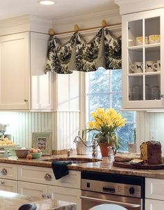 amy used this curtain idea in her kitchen