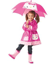 When I have a little girl this is what she is going to look like!  All decked out in Hello Kitty!