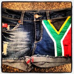 Wearing South Africa loud and proud! Very cool alternative for the American flag everybody has on everything these days