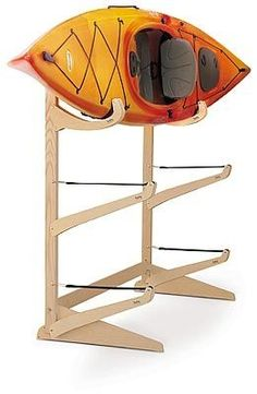 organize three kayaks with this storage rack from Talic