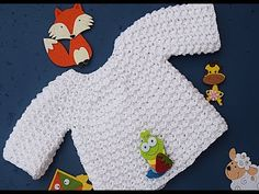 Jersey , chambrita, saco de bebe a crochet Majovel ideal para principiantes Crochet Baby Dress Pattern, Newborn Crochet Patterns, Crochet Coat, Knit Patterns, Baby Pullover, Baby Cardigan, Crochet Girls, Crochet For Kids, Crochet Ideas
