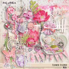 Flower Essence Kit by Palvinka Designs | Digital Scrapbook @ at The Digichick