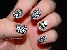 Becca Face Nail Art: Halloween  #nail #nails #nailart