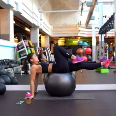 Gym Workout Videos, Gym Workout For Beginners, Fitness Workout For Women, Sport Fitness, Gym Workouts, At Home Workouts, Wellness Fitness, Yoga Fitness, Exercices Swiss Ball