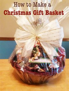 Making a Christmas Gift Basket & 54 Best DIY How to Make a Gift Basket images | Presents Creative ...