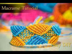 Macramé Square & Triangle bracelet Macrame Tutorial /Friendship Bracelets / Projects - YouTube