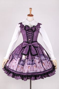 Ghost House Hallowmas Purple Lolita Jumper Dress