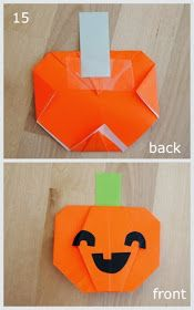 Origami Jack-O-Lantern Pumpkin Crafts For Teens, Crafts To Do, Fall Crafts, Arts And Crafts, Paper Crafts, Teen Crafts, Paper Art, Homemade Halloween Decorations, Halloween Crafts