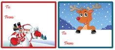 Snowman Gift Tags Printable images