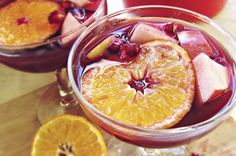 10 Healthy Holiday Drinks from Around the Web-- Christmas Sangria via Katie at the Kitchen Door