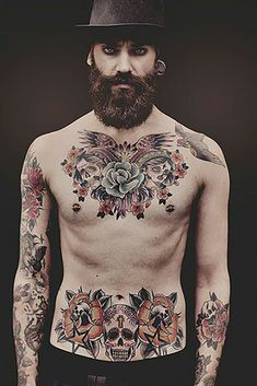 old school tattoos on chest