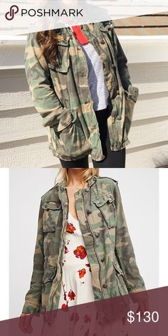 Free People Camo Jacket Like new only worn once - No trades or PP - Price is final - Second picture by Free People Free People Jackets & Coats Utility Jackets