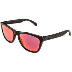 Oakley FROGSKINS Sunglasses bronze decay/rubin iridium ($170) ❤ liked on Polyvore featuring accessories, eyewear, sunglasses, light brown, sports sunglasses, oakley, lens glasses, sports glasses and oakley sunglasses