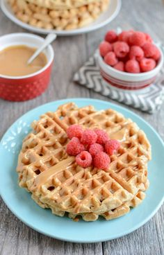 Whole Wheat Yogurt Waffles. Whole Wheat Yogurt Waffles are easy to make and packed with protein and fiber. Make a batch ahead of time to stock your freezer! Waffle Recipes, Baby Food Recipes, Gourmet Recipes, Dessert Recipes, Drink Recipes, Desserts, Sweet Potato Waffles, Sweet Potato Protein, Freezer Recipes