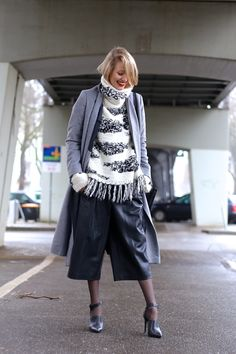Chunky knit & leather culottes ohhcouture_2