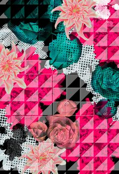 Miriam Castillo| Designer | Spring/Summer Textile Collection | Pink Geometric Floral Pattern