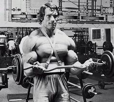 Unless you're at an advanced level, we advise you not to try to emulate the volume of work Arnold Schwarzenegger did for massive biceps. Here's his incredible bodybuilding routine. Best Biceps, Biceps And Triceps, Biceps Workout, Fitness Memes, Planet Fitness Workout, Fitness Facts, Cardio Fitness, Men's Fitness, Fitness Goals