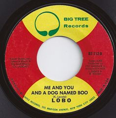 Me And You And A Dog Named Boo / Lobo / on Billboard 1971 - this reminds me of my first crush! 70s Music, Music Guitar, Good Music, Old Records, Vinyl Records, Center Labels, Song Words, Record Art, Vintage Music