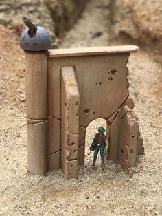 Custom Gun Tower Fortress Wall Ruins Playset Diorama Star Wars Acid Rain 1:18 | eBay