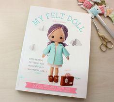 Limited Stock My Felt Doll Craft Book by Gingermelon on Etsy Felt Patterns, Easy Sewing Patterns, Sewing Ideas, Felt Fabric, Fabric Dolls, Doll Shop, Felt Dolls, Doll Crafts, Wool Felt
