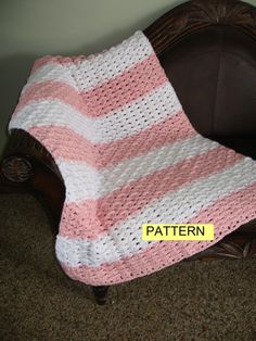 Crochet Pattern / Basketweave Shells Baby by CROCHETBYMELISSA, $4.99
